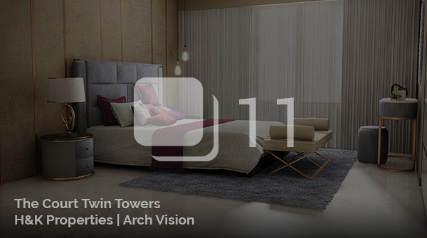 Architectural Visualization for a The Court Twin Towers